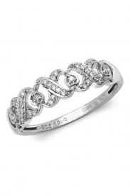 9K Hearts & Kisses Diamond Ring