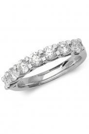 18K Cross Claw 7 Diamond 1/2 Eternity Ring