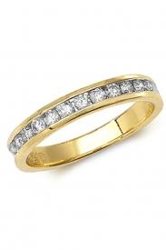 18K 1/2 Eternity Diamond Ring