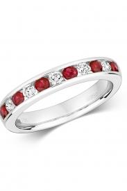 18K Ruby & Diamond Eternity Ring