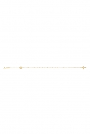 9CT YEL GOLD LADIES 7.5 INCHES ROSARY  BRCLT