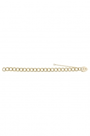 9CT YEL GOLD LADIES 8 INCHES CHARM BRCLT