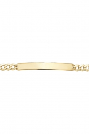 9CT YEL GOLD LADIES ID 7.5 INCHES BRCLT