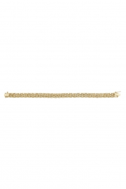 9CT YEL GOLD LADIES 7.5 INCHES BRICK LINK BRCLT