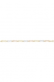 9CT YEL GOLD LADIES 8 INCHES BRCLT