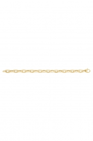 9CT YEL GOLD LADIES 7.5 INCHES ROLLER BALL BRCLT