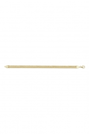 9CT YEL GOLD LADIES 7.5 INCHES FLAT WOVEN BRCLT
