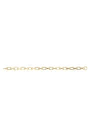 9CT YEL GOLD LADIES 7.5 INCHES HOLLOW BRCLT