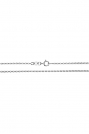 18CT WHT GOLD CABLE CHAIN