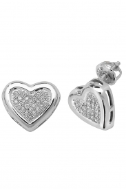 DIAMOND HEART STUDS W/G