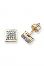 DIAMOND SQ STUDS