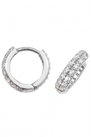 9CT WHT GOLD CZ HINGED EARRINGS