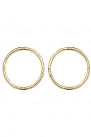 9CT YEL GOLD 10MM HINGED SLEEPERS