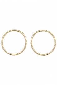 9CT YEL GOLD 12MM HINGED SLEEPERS