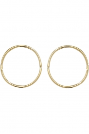 9CT YEL GOLD 14MM HINGED SLEEPERS