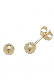 9CT YEL GOLD 4MM BALL STUD EARRINGS