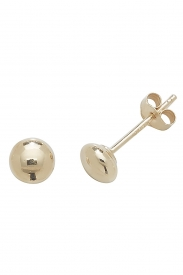 9CT YEL GOLD 4MM BUTTON STUD EARRINGS