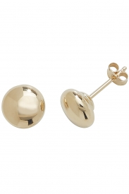 9CT YEL GOLD 6MM BUTTON STUD EARRINGS