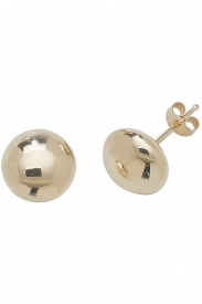 9CT YEL GOLD 7MM BUTTON STUD EARRINGS