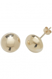9CT YEL GOLD 8MM BUTTON STUD EARRINGS