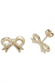 9CT YEL GOLD BOW STUD EARRINGS
