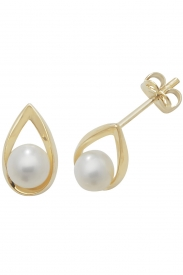 9CT YEL GOLD PEARL STUD EARRINGS