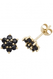9CT YEL GOLD  SAPPHIRE STUD EARRINGS