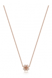 DIAMOND CLOVER NECKLACE 16/17INCH