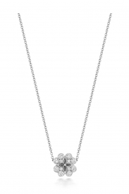DIAMOND LARGE CLOVER NECKLACE 16/17INCH