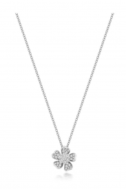 DIAMOND FLOWER NECKLACE 16/17INCH