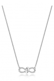 DIAMOND BOW NECKLACE 16/17INCH