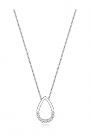 DIAMON PEAR SHAPE NECKLACE