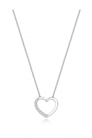 DIAMOND HEART SHAPED NECKLACE