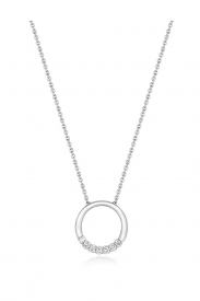 DIAMOND CIRCLE SHAPED NECKLACE