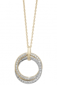 9CT YEL/WHT LADIES GOLD CZ 18 INCHES NCKLT