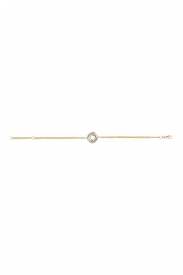 9CT YEL/WHT LADIES GOLD 7.5 INCHES BRCLT