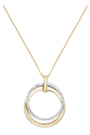 9CT YEL/WHT LADIES GOLD DC 18 INCHES NCKLT