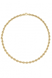 9CT YEL GOLD LADIES 17 INCHES FANCY NCKLT