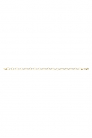9CT YEL GOLD LADIES 7.5 INCHES BRCLT