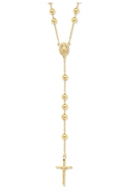 9CT YEL GOLD 26+5.5 INCHES ROSARY