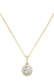 9CT YEL GOLD LADIES' CZ PENDANT ON 16+2 IN CHAIN