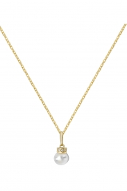 9CT YEL GOLD LADIES PEARL PNDT ON 16+2 IN CHAIN