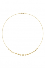9CT YEL GOLD LADIES 16 INCHES NECKLET