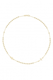 9CT YEL GOLD LADIES 16 INCHES ROSARY NECKLET