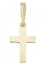 9CT YEL GOLD PLAIN SOLID CROSS PENDANT