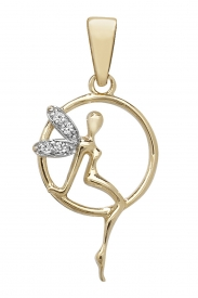 9CT GOLD CZ TINKER BELL