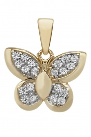 9CT GOLD CZ BUTTERFLY