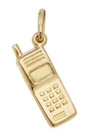 9CT YEL GOLD MOBILE PHONE PENDANT