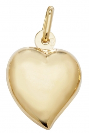 9CT YEL GOLD LRG HEART PENDANT