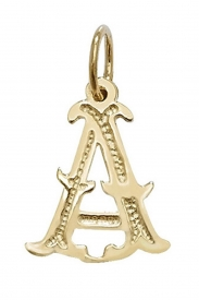 9CT YEL GOLD GOTHIC INITIAL PENDANT